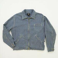 Vintage RRL Ralph Lauren (M) 1993 Pinstripe Blue Engineer Full Zip Jacket