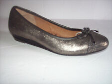 New SOFFT GOLD/BLACK METALLIC LOW WEDGE BALLET SHOES US SZ 9.5M