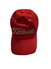 Titleist Adjustable Red Hat Cap Lowes
