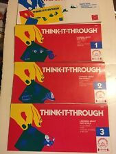 Discovery Toys Think It Through LEARNING ABOUT OUR WORLD 1 2 3 Set BOOK 4020 VTG