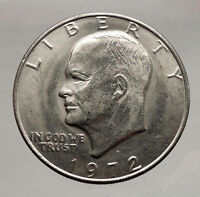 1972 President Eisenhower Apollo 11 Moon Landing Dollar USA Coin Denver  i46164