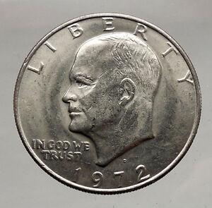 1972 President Eisenhower Apollo 11 Moon Landing Dollar USA Coin Denver  i46164