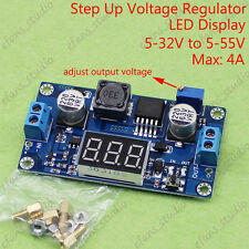DC-DC Boost Step up Converter 5-32V to 5V-55V 9V 12V 19V 24V 48V LED Voltmeter