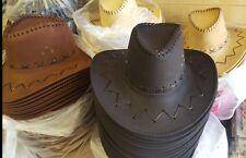 WHOLESALE   fedora Cowboy Faux leather hats 40  PCS £2.50  EACH