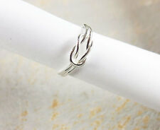925 Sterling Silver  Love  Knot Ring, Size 8 US