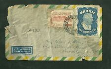 1950 Brazil Cover Sent to Brooklyn New York Stamp Scott C68 & C76 Correio