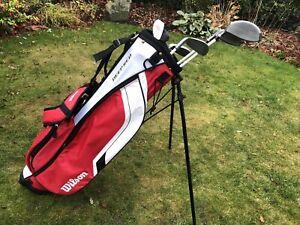 Wilson Deep Red Junior Golf Set Right Handed