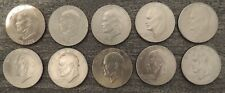 1976 EISENHOWER Ike Bicentennial One Dollar $1 Coins Lot Of 10 D Clad
