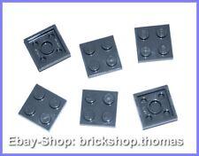 Lego 6 x Platten grau 2 x 2 - 3022 - Plate Dark Bluish Gray - NEU / NEW