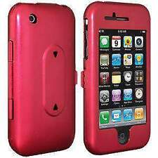 AMZER ALUMINUM HARD CASE WITH STAND FOR APPLE  IPHONE 3G S - RED