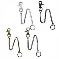 Extra Long Strong Metal Hipster Key Wallet Belt Ring Clip Chain Keychain AU