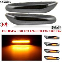 Flowing LED Side Marker Turn Signal Light For BMW E90 E91 E92 E60 E87 E82 E46~