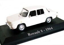 1/43 - IXO : EN BOITE VITRINE -  RENAULT 8   /  R8 BLANCHE - 1964