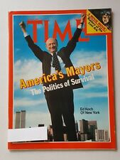 Time Magazine June 15 1981 Americas Mayors - Ed Koch Of New York - English