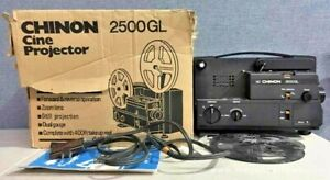 CHINON 2500GL DUAL 8MM/SUPER8 MOVIE PROJECTOR IN WORKING CONDITION, PLEASE READ