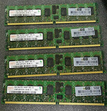 Lot of 4 HP 499276-061 2GB PC2-6400P DDR2 ECC REG Server Memory - FREE SHIP!