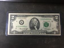 1976 two dollar federal reserve note DALLAS TEXAS K 31046909 A
