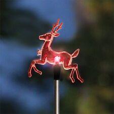 Lytworx 76cm Colour Changing LED Reindeer Festive Solar Stake Light/Auto Sensor