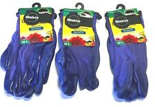 Miracle-Gro Women's Gloves Garden Care Secure Fit Purple Work Gloves 3 Pack