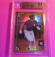 Brett Phillips 2015 Bowman Chrome GOLD REFRACTOR #d /50 BGS 9.5 GEM MINT w 3 10s