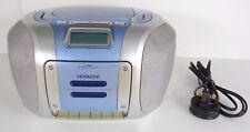 Hitachi CX-420 AM/FM Radio Cassette Reproductor de CD Boombox Estéreo Portátil