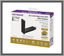 NETGEAR AC1200 (A6210-10000S) High Gain USB Wi-Fi Adapter, New in Retail Box !!!