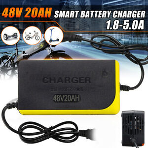 48V 20AH 1.8A-5.0A Electric Scooter Charger Power Adapter Lead Acid Battery