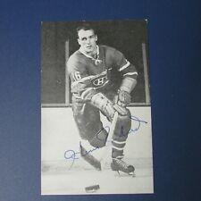 HENRI RICHARD Vintage Montreal Canadiens postcard B&W team issue RARE