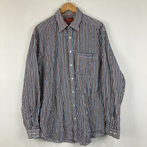 RM Williams Mens Button Up Shirt Size XL Multicoloured Striped Long Sleeve