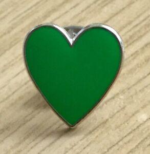 GREEN HEART ENAMEL PIN BADGE - MENTAL HEALTH AWARENESS 10% DONATED TO CHARITY