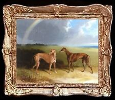 Dollhouse Art Picture Miniature Framed Print 1:12 Scale Greyhound Dog A6157
