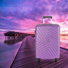 "Deep Purple 24"" Hard Side Medium Travel Suitcase TSA Lock Lightweight"