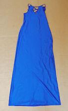 Vintage 'Promiss' Long Royal Blue Dress Size M-L - Shiny Lycra Spandex