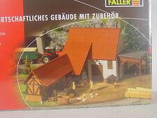 Landwirtschaftliches Nebengebäude m. Zubehör -  Faller HO 1:87 - 191707 #E