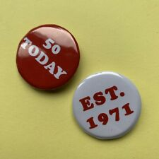 50 TODAY BIRTHDAY BADGE SET