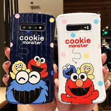 Sesame Street Elmo Cookie Monster Suitcase Glossy Soft Phone Case For Samsung S8
