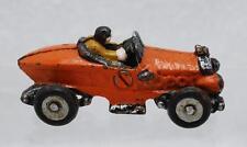 "VINTAGE HUBLEY 1960'S ORANGE DIECAST RACE CAR MODEL WITH DRIVER 3.5"" LONG RARE"