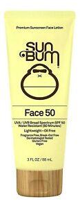 Sun Bum Original SPF 50 Clear Face Lotion 3 oz. Sun Protection Exp 10/21