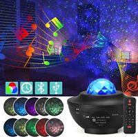 US LED Starry Night Sky Projector Lamp Ocean Wave Star Light Room Romantic Decor