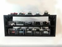 DISPLAY SHELVES BL61 BL66 LMG1 BLACK / WHITE / RED suitable for 15 x 1:43rd cars
