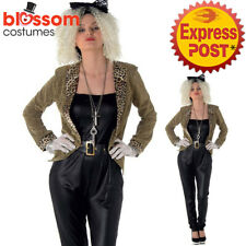 K680 Ladies Pop Mega Star 80s Wild Child Diva Fancy Dress Up Rock Costume Outfit