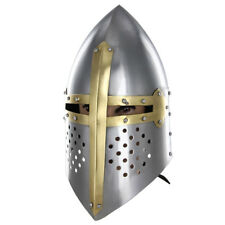 Medieval Crusader Sugar Loaf 20G Knights Helmet Replica Collectible