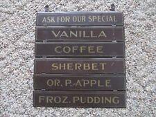 antique ice cream shop display menu signs slid together original display hanging