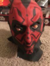 Darth Maul Costume Mask Authentic Star Wars Clone Sith Full Latex New Halloween
