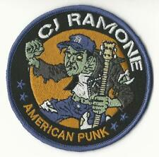 CJ Ramone - American Punk Zombie Embroidered Patch