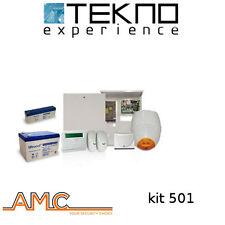 Kit antifurto filare con centrale C24GSM plus completo di batterie AMC KIT 501