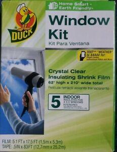 BRAND 281506 Indoor 5-window Shrink Film Insulator Kit 5.1 FT x 17.5 FT