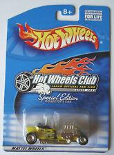 2002  HOT WHEELS  T-BUCKET  YELLOW  MOONEYES  JAPAN  FAN  CLUB