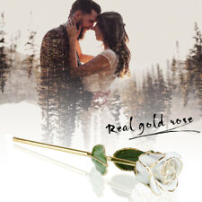 Romantic Forever Love Bud Rose 24K Gold Plated Flower Valentine's Day Gifts
