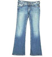 Diesel Bebel B.C Women's Jeans size W 28 L 32 Wide Leg Blue Made in Italy 41P